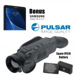 Pulsar Helion XQ50F Thermal Imaging Monocular Scope Samsung Tab A Bonus Kit