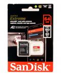 SanDisk extreme 64GB micro SD card with adapter